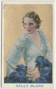 Sally Blane 1920s Kashin Motion Picture Stars Large Trading Card W618