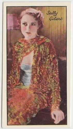 Sally Eilers 1935 Carreras Famous Film Stars Tobacco Card #33