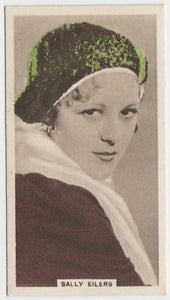 Sally Eilers 1934 John Player Film Stars Tobacco Card 1st Series #17