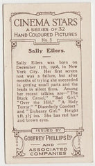 Sally Eilers circa 1934 Girls Mirror Star Stamps