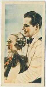 Sally Eilers +Charles Starrett 1934 Godfrey Phillips Film Stars Tobacco Card #26