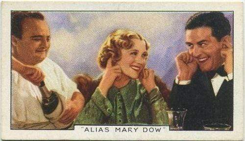 Sally Eilers + Ray Milland 1936 Gallaher Film Episodes Tobacco Card #2