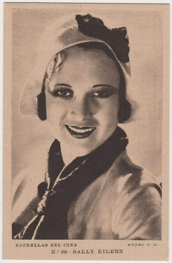 SALLY EILERS Vintage 1930s Estrellas del Cine #99 POSTCARD from Spain