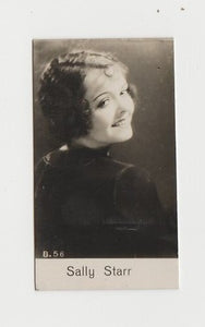 SALLY STARR Vintage 1930s Estrellas del Cine #100 POSTCARD from Spain