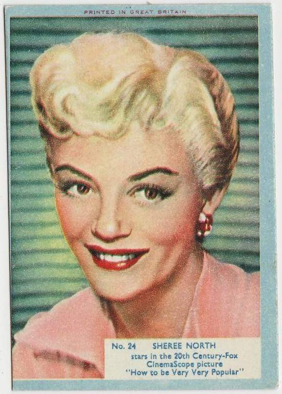 Sheree North 1956 A&BC Film Stars Trading Card #24