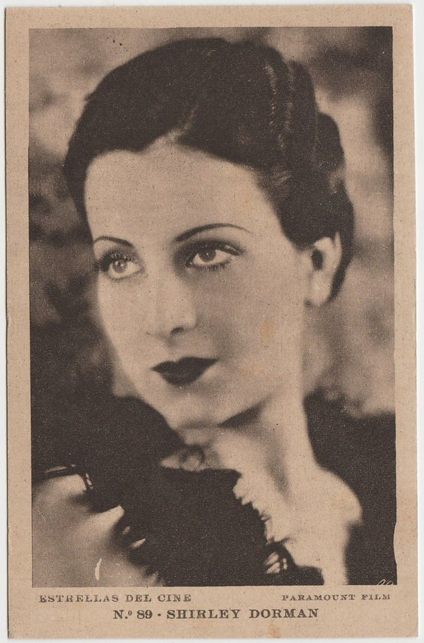 SHIRLEY DORMAN Vintage 1930s Estrellas del Cine POSTCARD from Spain #89