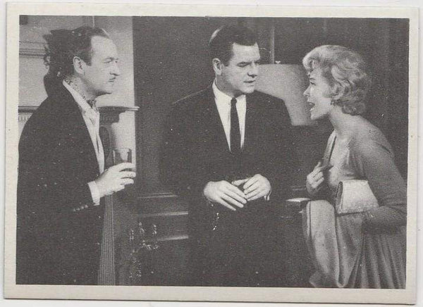 Shirley MacLaine + David Niven + Gig Young 1959 MGM Film Stars Trading Card #87