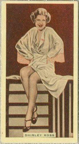 Shirley Ross 1935 Godfrey Phillips Stage and Cinema Beauties Tobacco Card #13