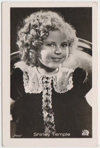 Shirley Temple 1930s Vintage ROSS Film Stars Real Photo Trading Card #8