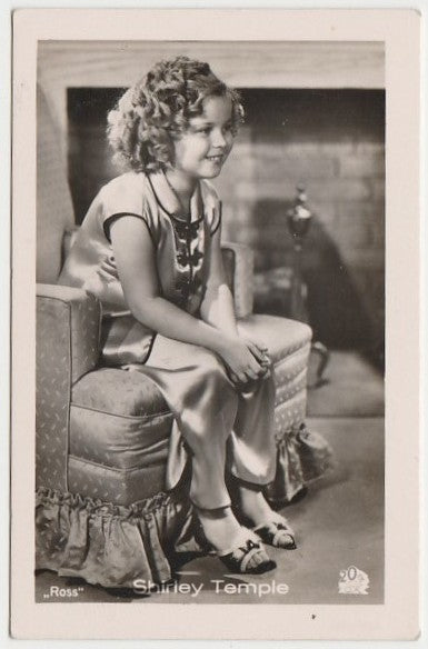 Shirley Temple 1930s Vintage ROSS Film Stars Real Photo Trading Card #10