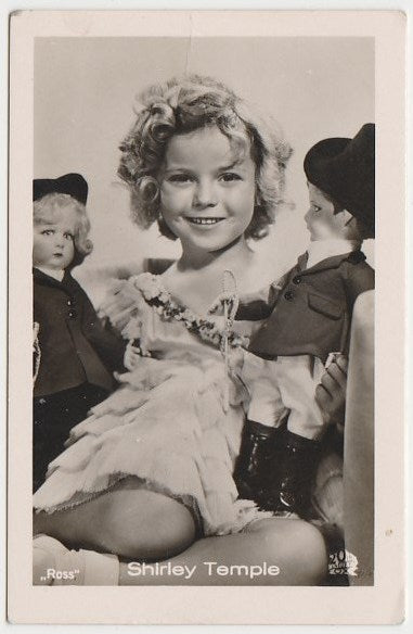 Shirley Temple 1930s Vintage ROSS Film Stars Real Photo Trading Card #15