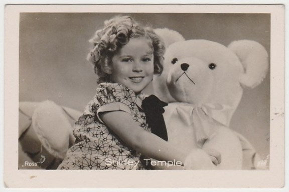 Shirley Temple 1930s Vintage ROSS Film Stars Real Photo Trading Card #19