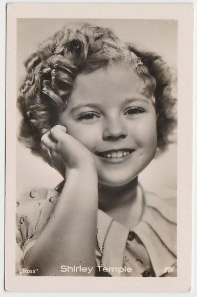 Shirley Temple 1930s Vintage ROSS Film Stars Real Photo Trading Card #21
