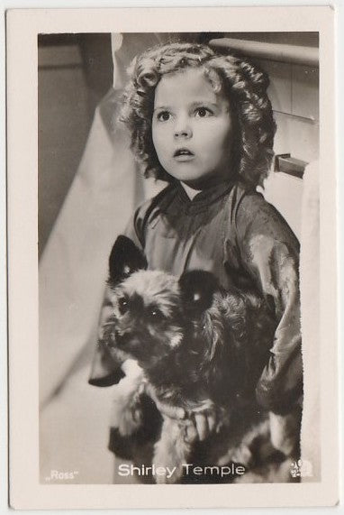 Shirley Temple 1930s Vintage ROSS Film Stars Real Photo Trading Card #34