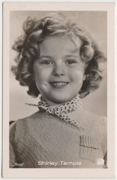 Shirley Temple 1930s Vintage ROSS Film Stars Real Photo Trading Card #37