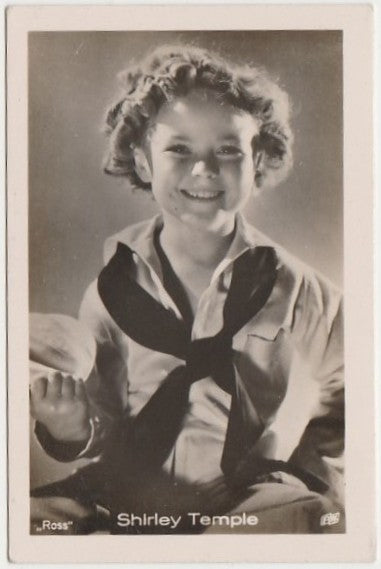 Shirley Temple 1930s Vintage ROSS Film Stars Real Photo Trading Card #44