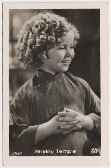 Shirley Temple 1930s Vintage ROSS Film Stars Real Photo Trading Card #52
