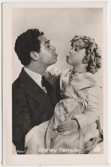Shirley Temple 1930s Vintage ROSS Film Stars Real Photo Trading Card #58
