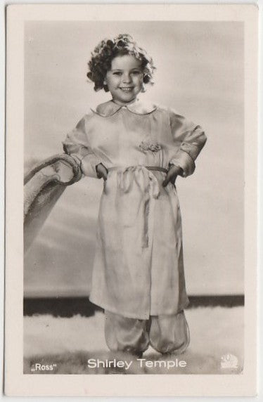 Shirley Temple 1930s Vintage ROSS Film Stars Real Photo Trading Card #60