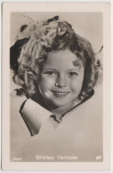 Shirley Temple 1930s Vintage ROSS Film Stars Real Photo Trading Card #62