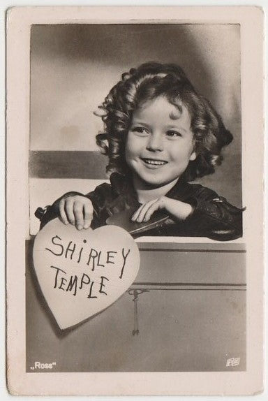 Shirley Temple 1930s Vintage ROSS Film Stars Real Photo Trading Card #72