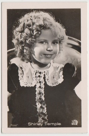 Shirley Temple 1930s Vintage ROSS Film Stars Real Photo Trading Card #74