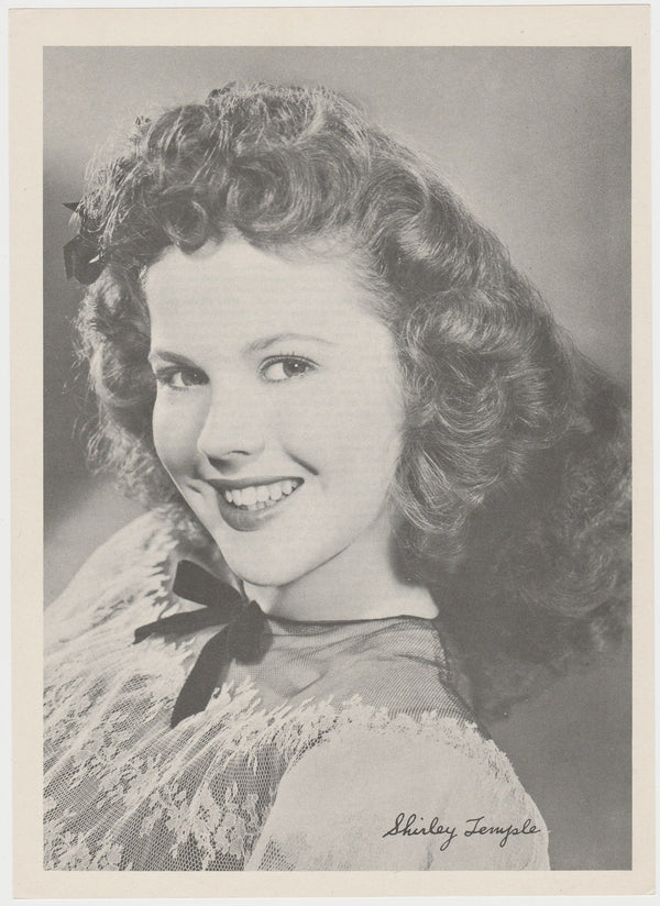 Shirley Temple 1946 Motion Picture Magazine Paper Printed Photo 7.5 X 10