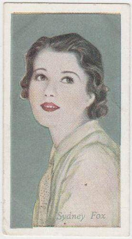 Sidney Fox 1934 Godfrey Phillips Film Favourites Tobacco Card #49