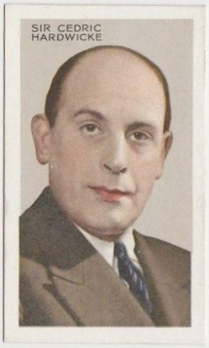 Sir Cedric Hardwicke 1935 Gallaher Stars of Screen and Stage Tobacco Card #42