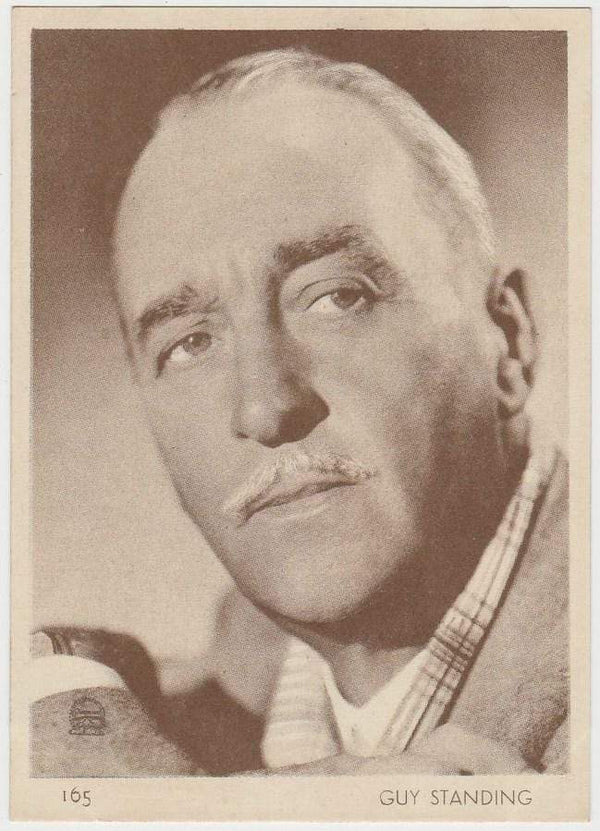 Sir Guy Standing 1930s Aguila Large Paper Stock Trading Card #165