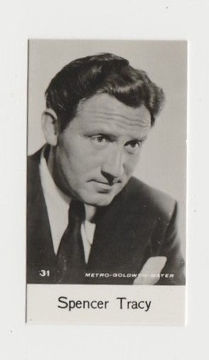 Spencer Tracy 1940 Bridgewater Film Stars Small Trading Card - Series 8 #31