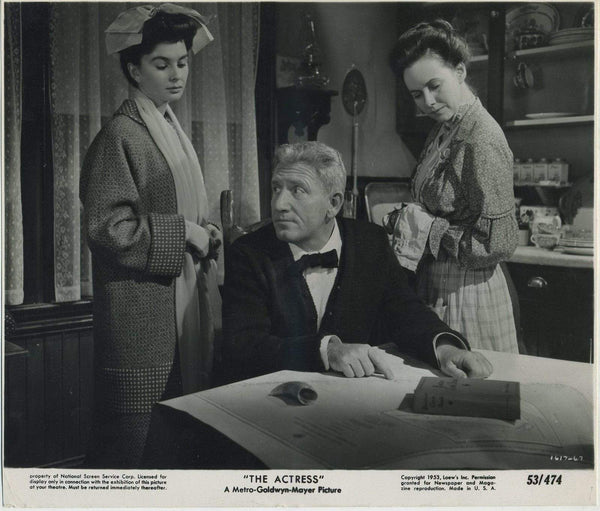 Spencer Tracy + Jean Simmons + Teresa Wright 1953 Still Photo for THE ACTRESS
