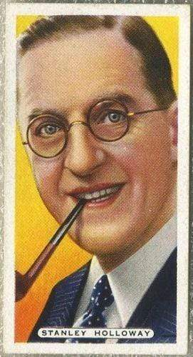 Stanley Holloway w/ Pipe 1935 Ardath Film Stage and Radio Stars Tobacco Card #25