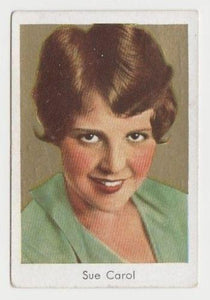 Sue Carol 1934 Salem Goldfilm Movie Star Tobacco Card #166