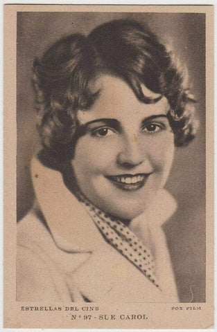 SUE CAROL Vintage 1930s Estrellas del Cine #97 POSTCARD from Spain