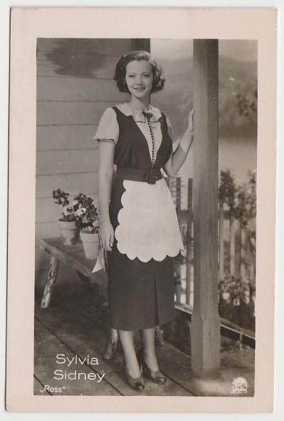 Sylvia Sidney 1930s Vintage ROSS Film Stars Real Photo Trading Card #3