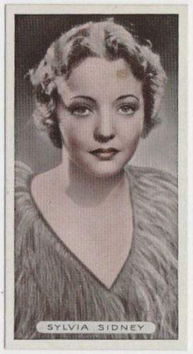 Sylvia Sidney 1934 Ardath Famous Film Stars Tobacco Card #10