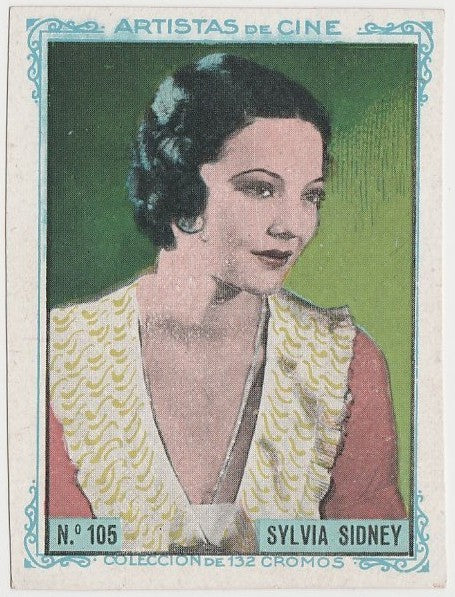 Sylvia Sidney 1939 Mars Confections Famous Film Stars Trading Card #24