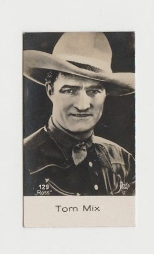 TOM MIX 1935 Frankie Darro Movie Stamp Club PAPER STOCK Trading Card