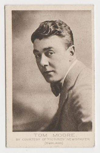 Tom Moore 1923 Bucktrout Cinema Stars Tobacco Card #42