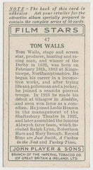 Tom Walls 1934 John Player Film Stars Tobacco Card 1st Series #47