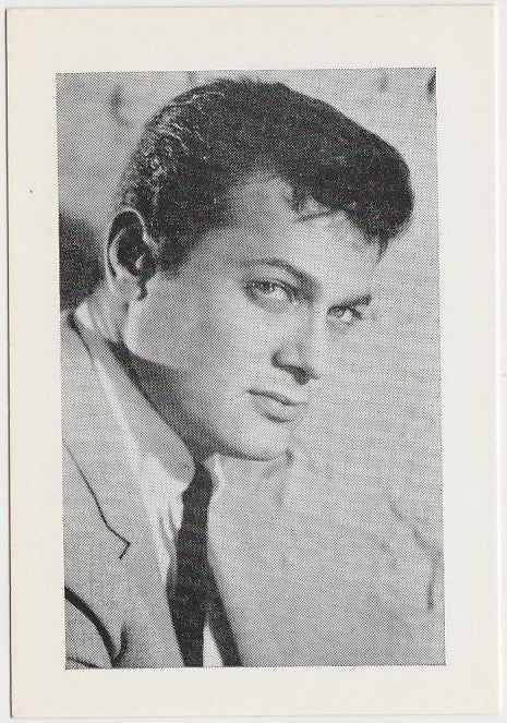 Tony Curtis Late 1950s Vintage Film Star Trading Card