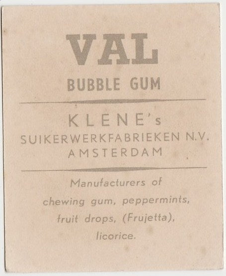 Rod Cameron 1954 Klene VAL Bubble Gum Dutch Trading Card #173