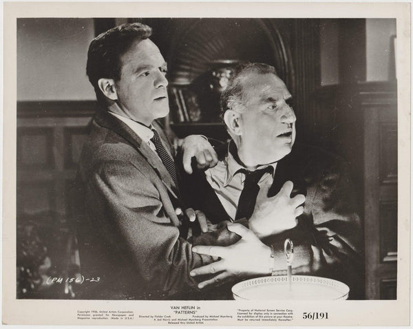 Van Heflin + Ed Begley 1956 Vintage 8x10 STILL PHOTO Patterns 156-23