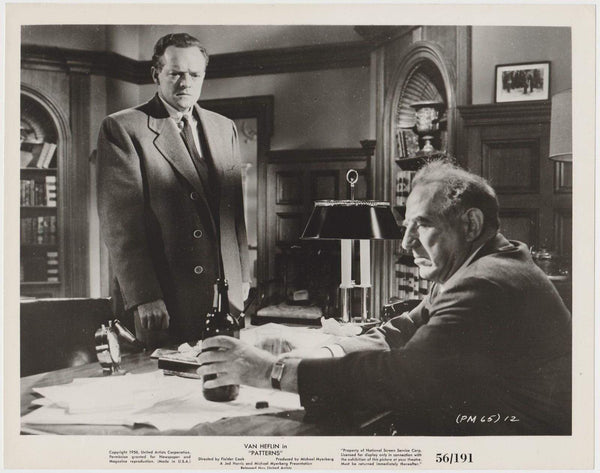 Van Heflin + Ed Begley 1956 Vintage 8x10 STILL PHOTO Patterns 65-12