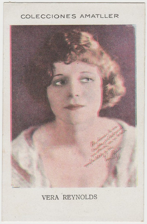 Vera Reynolds 1920s Chocolate Amatller Trading Card #FF-42-85