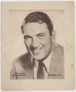 Victor McLaglen 1920s Kashin Motion Picture Stars Large Trading Card W618
