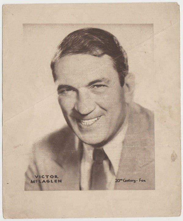 Victor McLaglen 1930s DC Thomson Large Paper Stock Trading Card or Photo