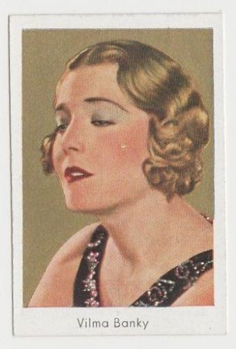 Vilma Banky 1934 Bulgaria Goldfilm Movie Star Tobacco Card #134