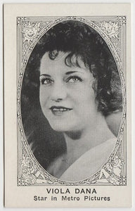 Viola Dana 1916 MJ Moriarty Silent Film Star Playing Card EX+